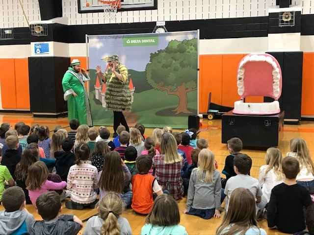 K-2 Students learned about Dental Care