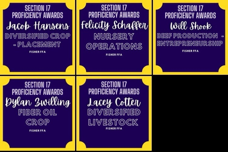 Section 17 FFA Proficiency Winners