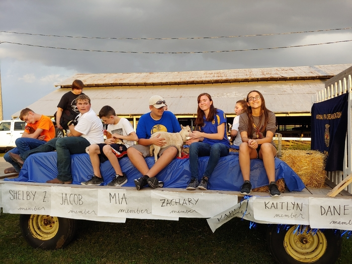 FFA Homecoming Float