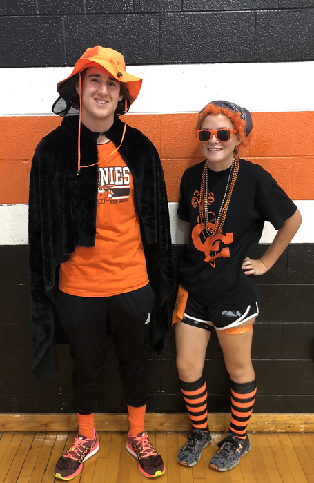 "Best dressed ""orange and black"" day"