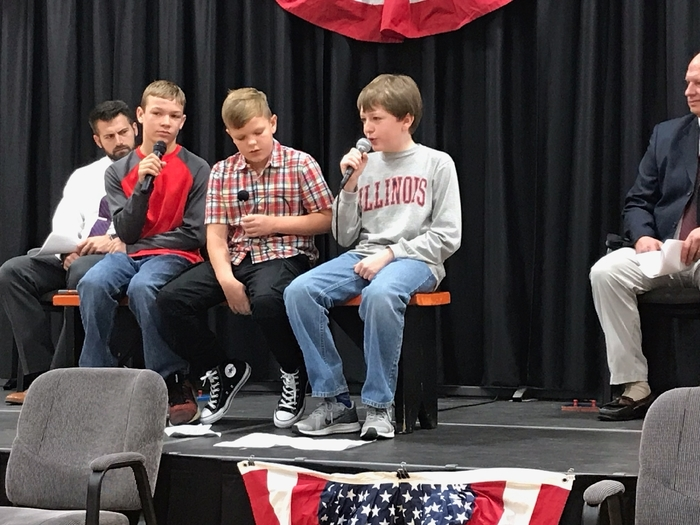 boys performing skit