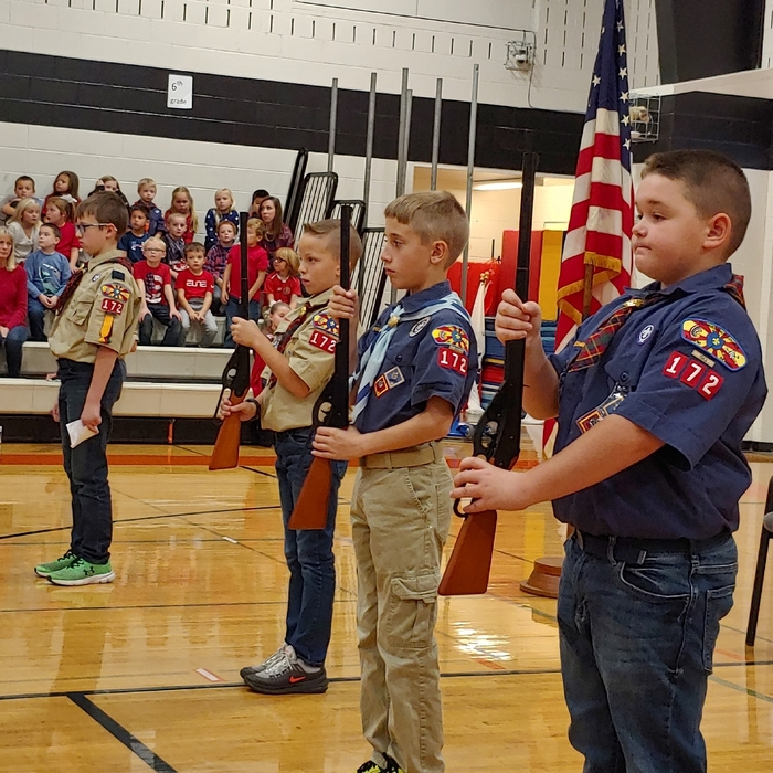 3 members of Cub Scout Pack 172