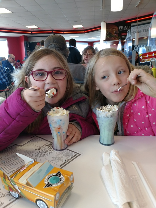 Lunch with the Principal at Steak-n-Shake!