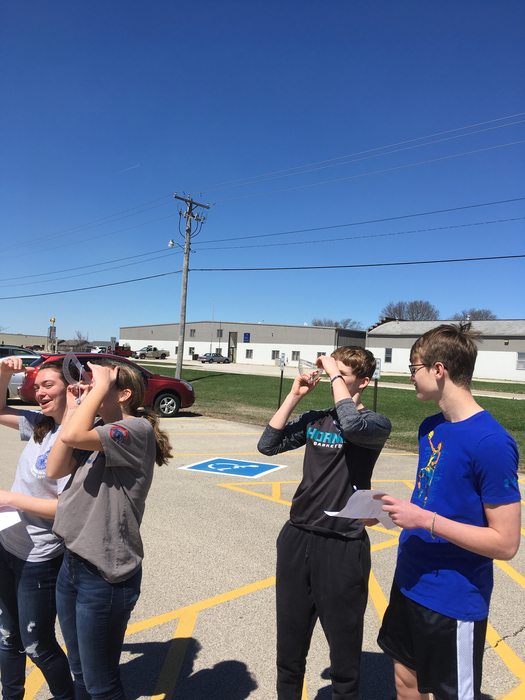 Fisher scholars use trigonometry and theodolites to estimate height of pole!